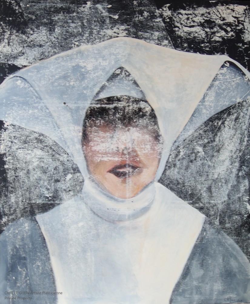 Dominique peint par Chris Le Guen Artiste Plasticienne Peintre et Sculptrice