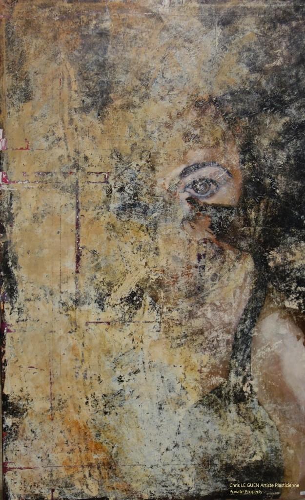 Chris Le Guen Artiste Plasticienne Peintre et Sculptrice a peint Emerging