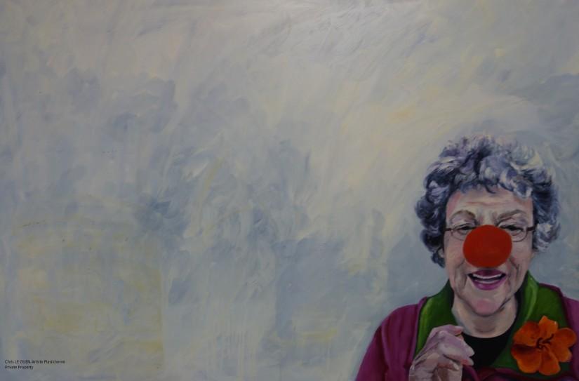 Françoise peint par Chris Le Guen Artiste Plasticienne Peintre et Sculptrice