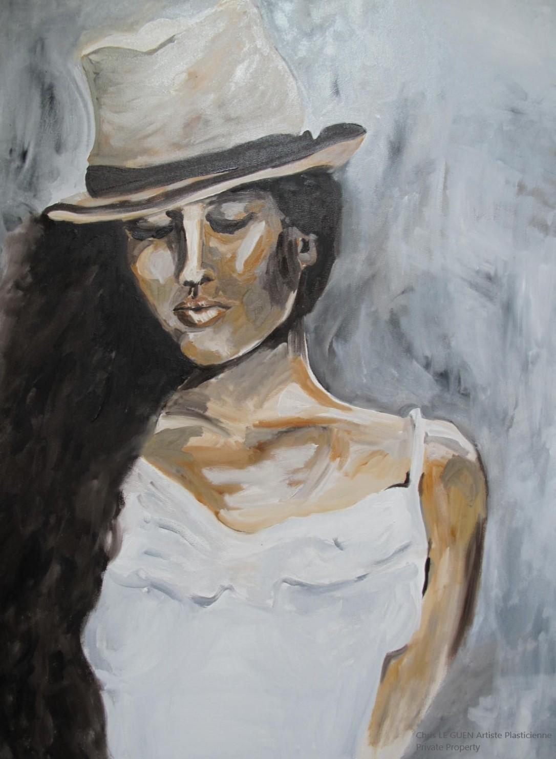 Chris Le Guen Artiste Plasticienne Peintre et Sculptrice peint La Bauloise