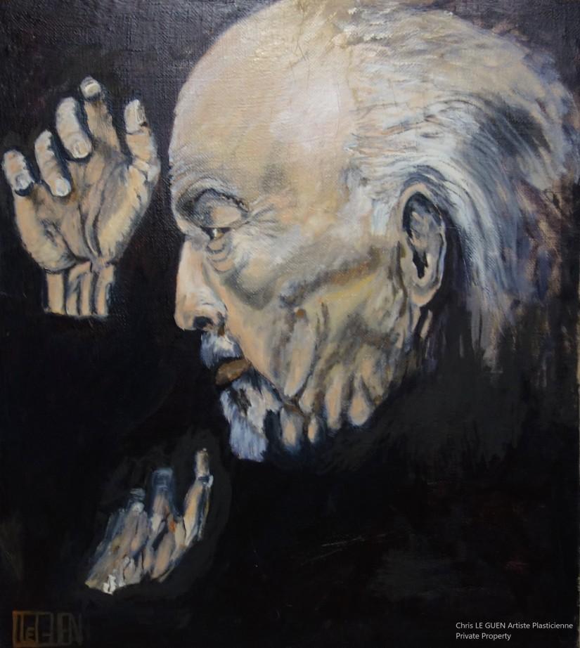 Le Senior vu et représenté par Chris Le Guen Artiste Plasticienne Peintre et Sculptrice