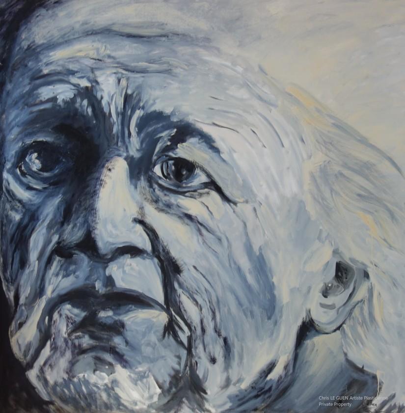 Le Vieil Homme fait par Chris Le Guen Artiste Plasticienne Peintre et Sculptrice