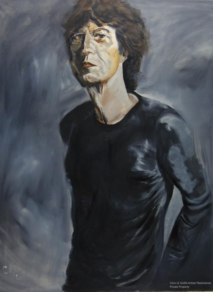 Chris Le Guen Artiste Plasticienne Peintre et Sculptrice a osé peindre Mick Jagger!!!