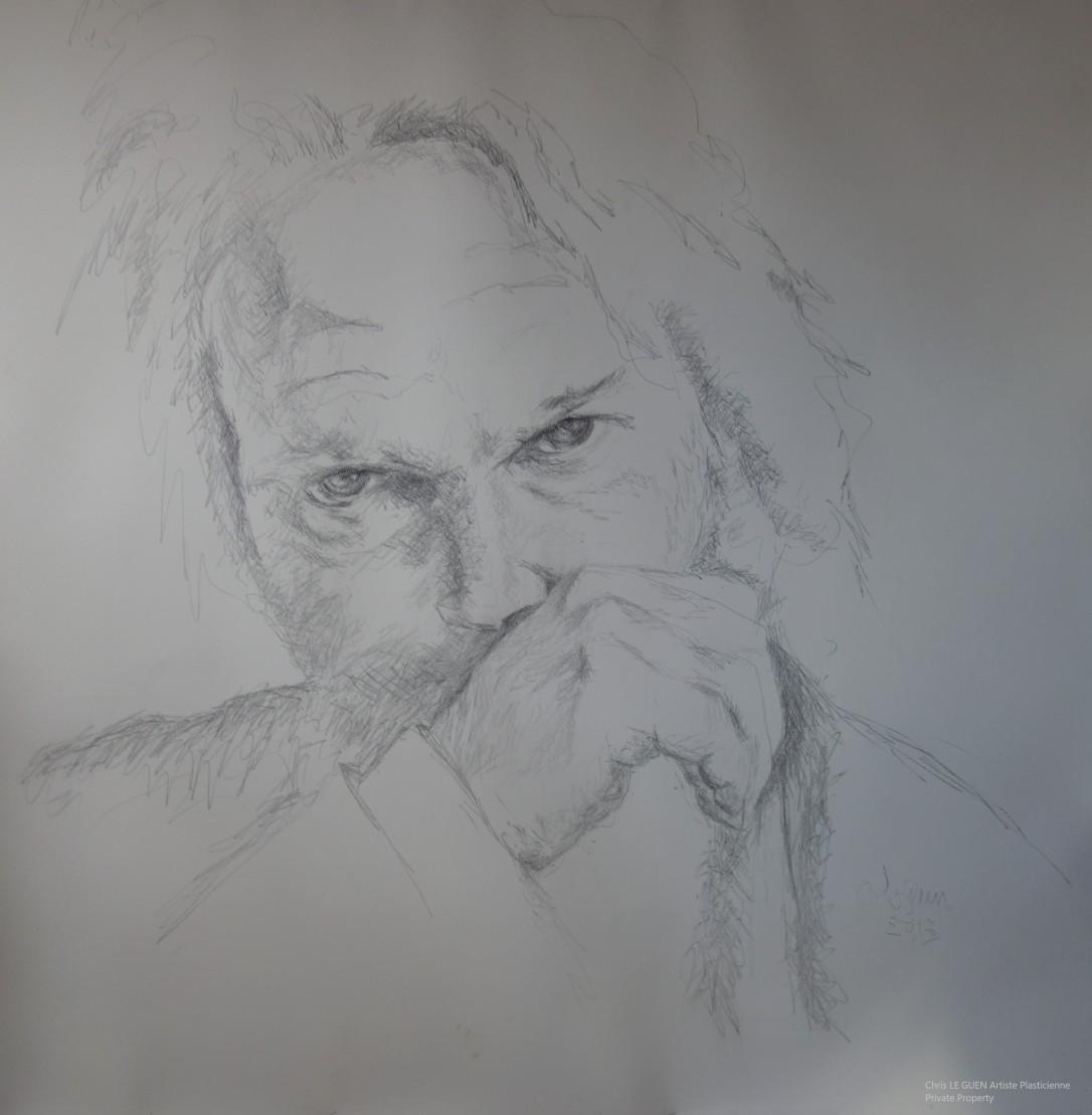 Chris Le Guen Artiste Plasticienne Peintre et Sculptrice a fait Neil Young