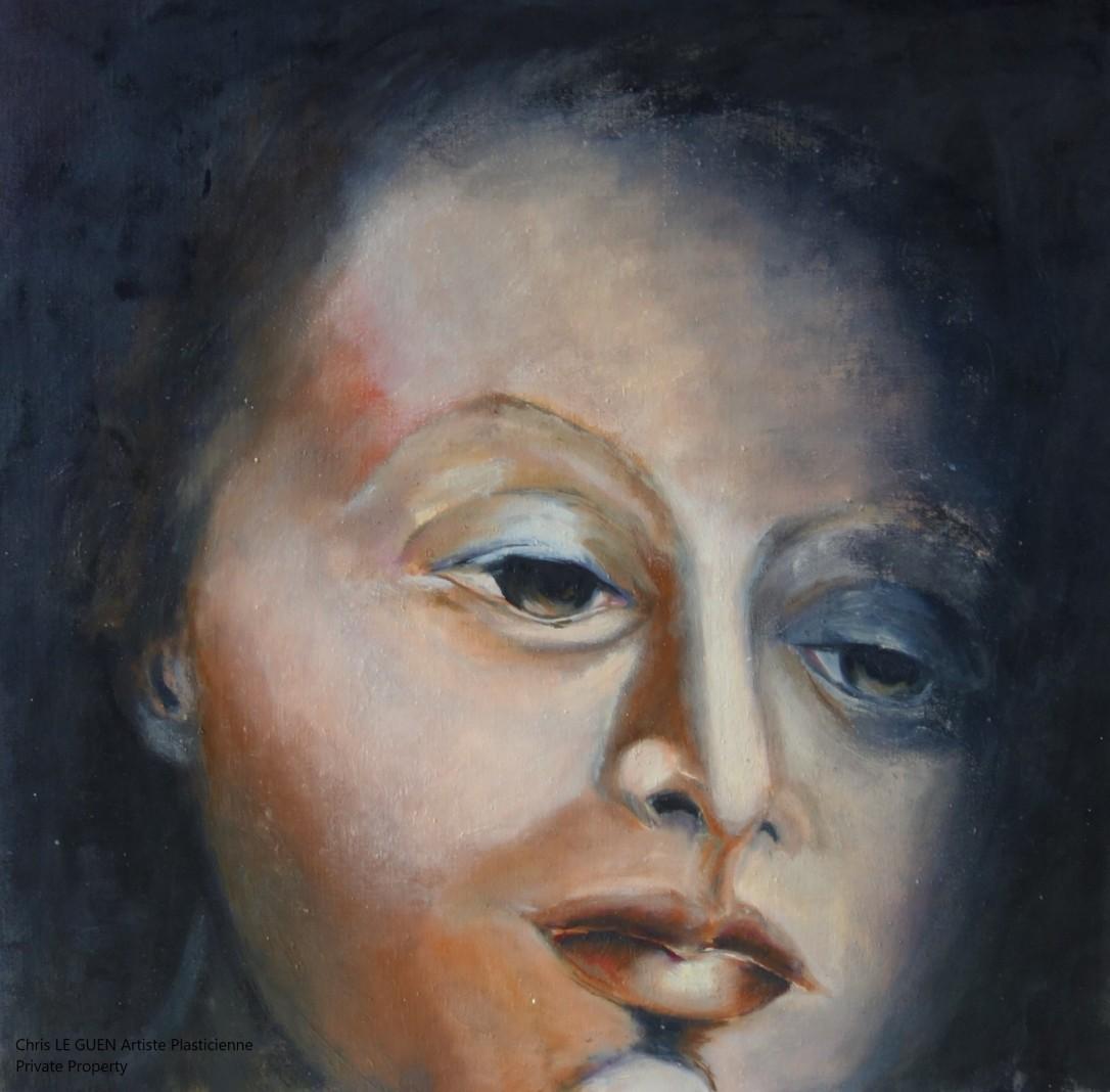 Chris Le Guen Artiste Plasticienne Peintre et Sculptrice a peint Ninon
