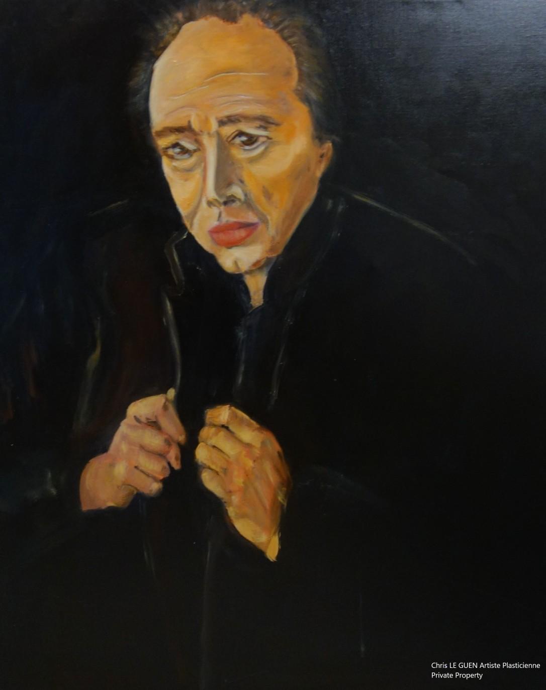 Philippe Djian peint par Chris Le Guen Artiste Plasticienne Peintre et Sculptrice