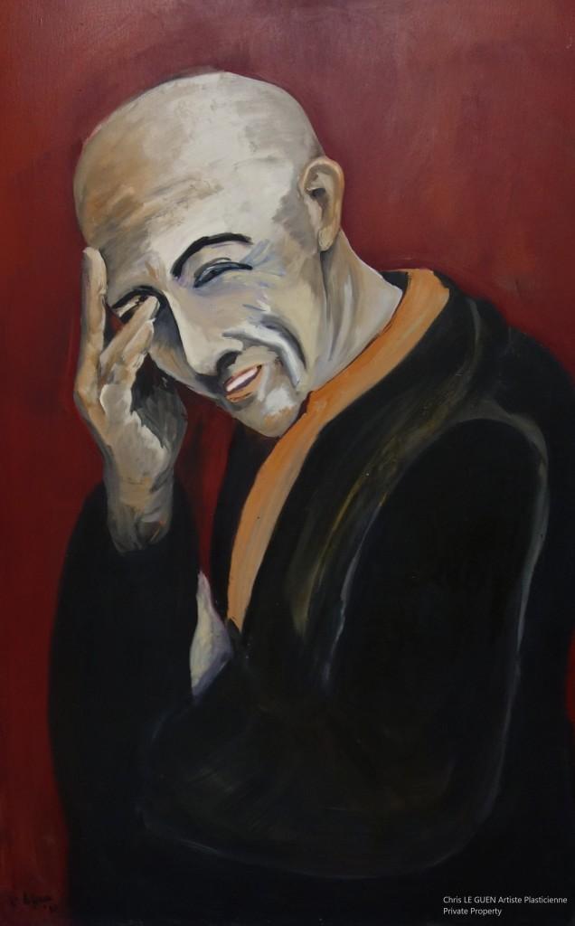 Chris Le Guen Artiste Plasticienne Peintre et Sculptrice a peint The Monk