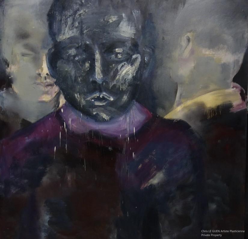 The Three Novices a été peint par Chris Le Guen Artiste Plasticienne Peintre et Sculptrice