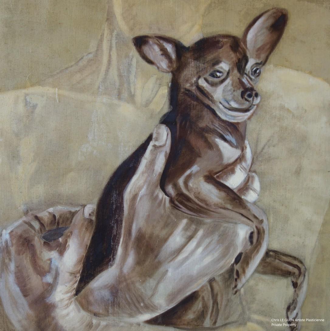 Thierry et Zaby peint par Chris Le Guen Artiste Plasticienne Peintre et Sculptrice