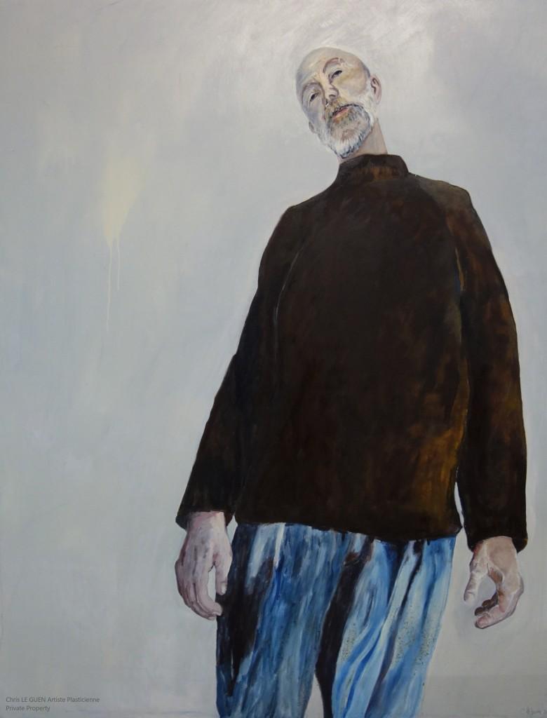 Chris Le Guen Artiste Plasticienne Peintre et Sculptrice a peint son mari Thierry