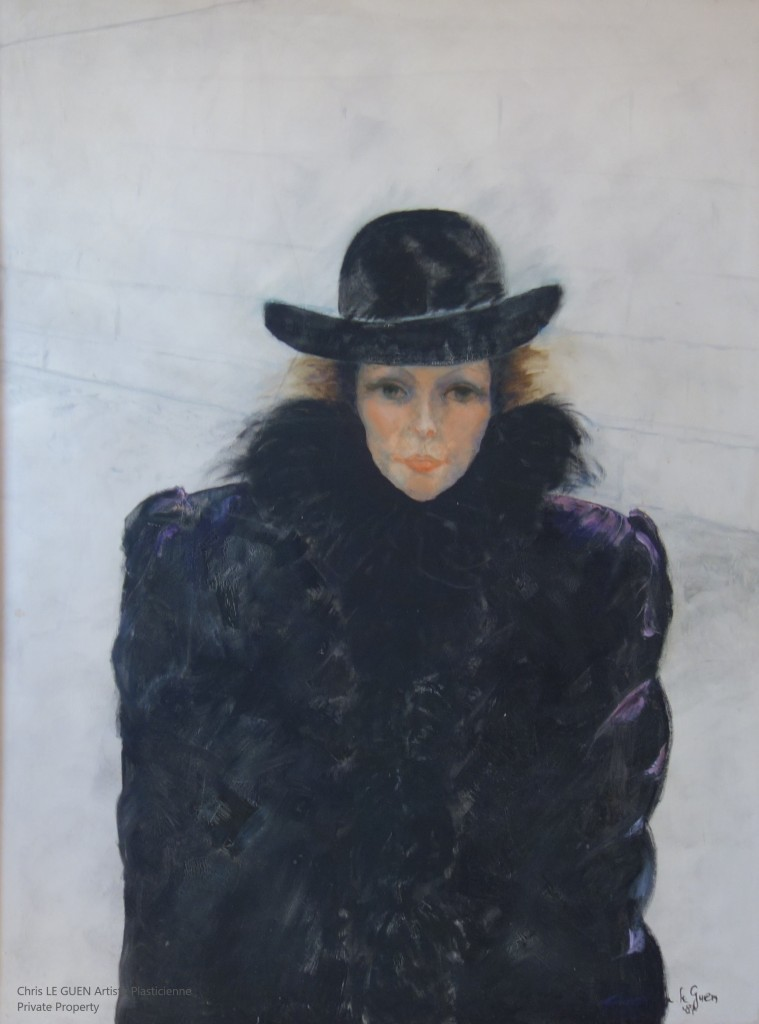 Chris Le Guen Artiste Plasticienne Peintre et Sculptrice a peint Unfinished Portrait
