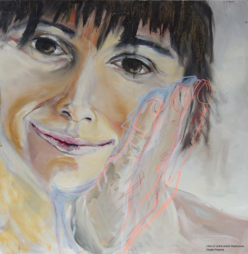 Chris Le Guen Artiste Plasticienne Peintre et Sculptrice a peint Valérie