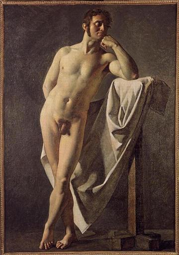 Académie d'homme de Jean-Auguste-Dominique Ingres en 1801 ©Wiki-art