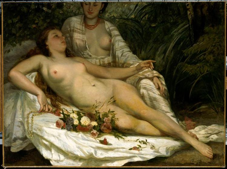 Baigneuses de Gustave Courbet en 1858 ©Wiki-art