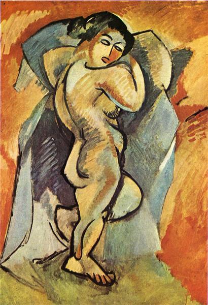 Big Bude de George Braque est une Peinture à l Huile sur Toile de 139.5 x 101 cm de 1908 ©Wiki-art