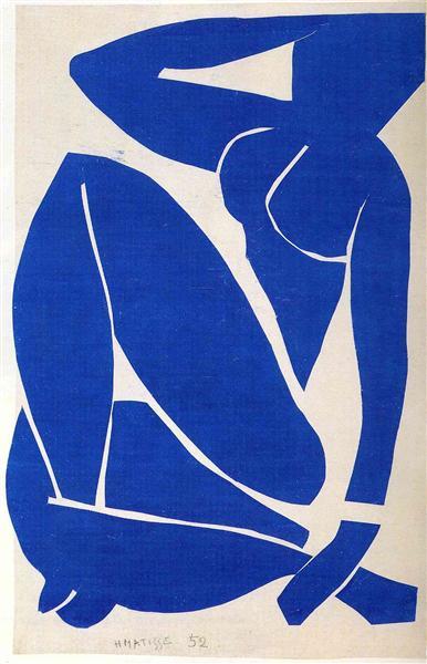 Blue Bude de Henri Matisse en 1952 ©Wiki-art
