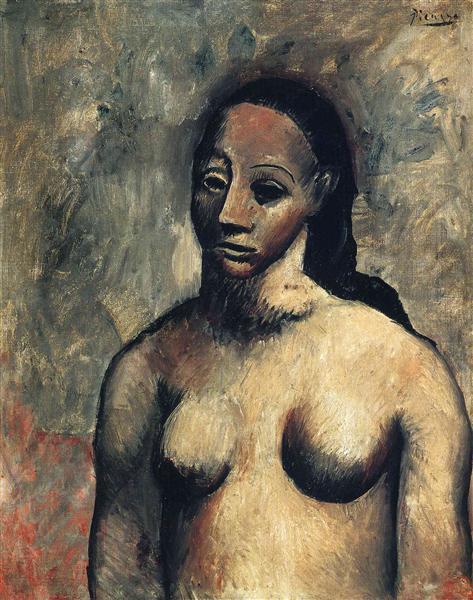 Bust of nude woman de Pablo Picasso fait en 1906 ©Wiki-art