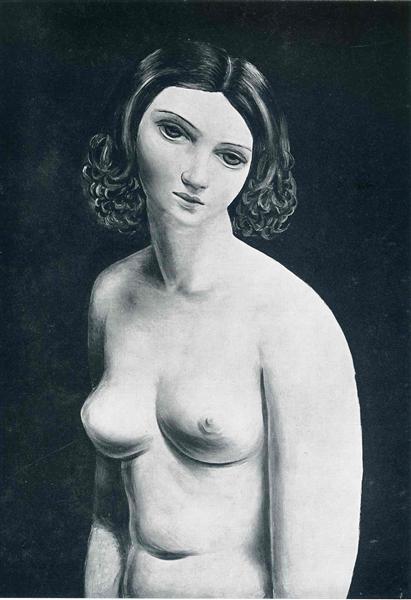 Buste nu de Moïse Kisling est une Peinture à l Huile sur Toile de 65 x 50 cm datant de 1929 ©Wiki-art
