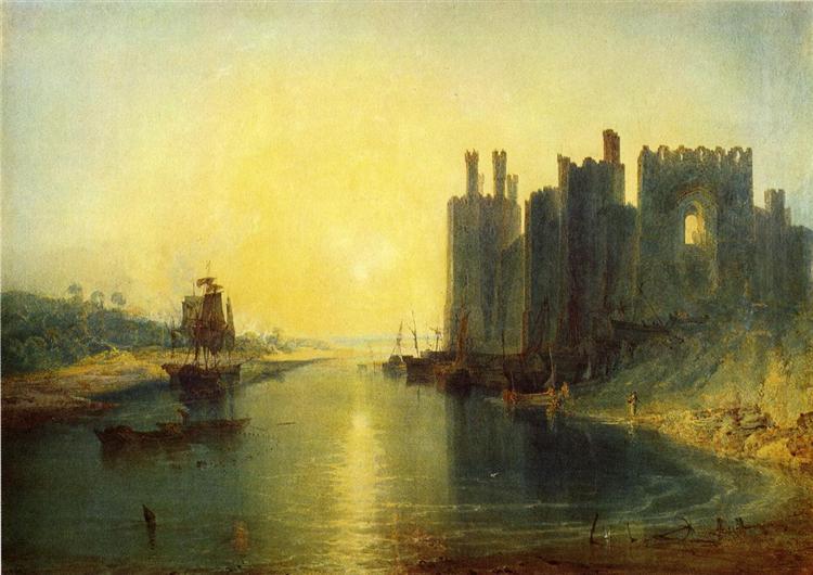 Caernarvon Castle de Joseph Mallord William Turner en 1799 ©Wikiart