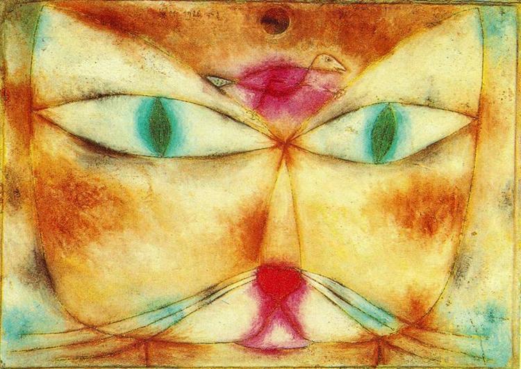 Cat and Bird de Paul Klee en 1928 ©Wiki-art