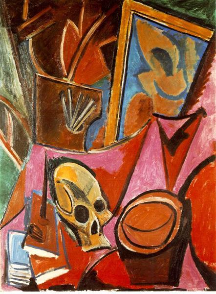 Composition avec tête de mort de Pablo Picasso datant de 1908