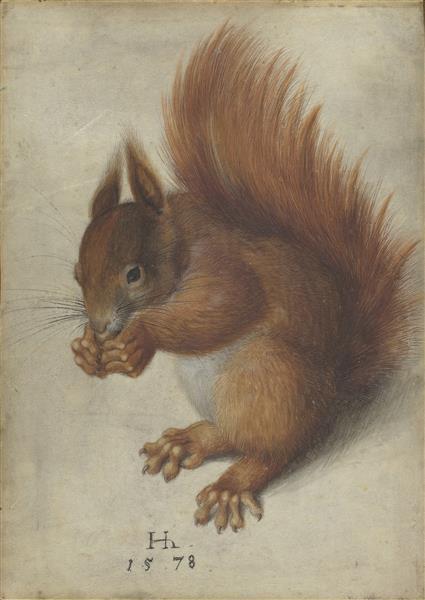 Écureuil de Hans Hoffmann ©Wiki-art