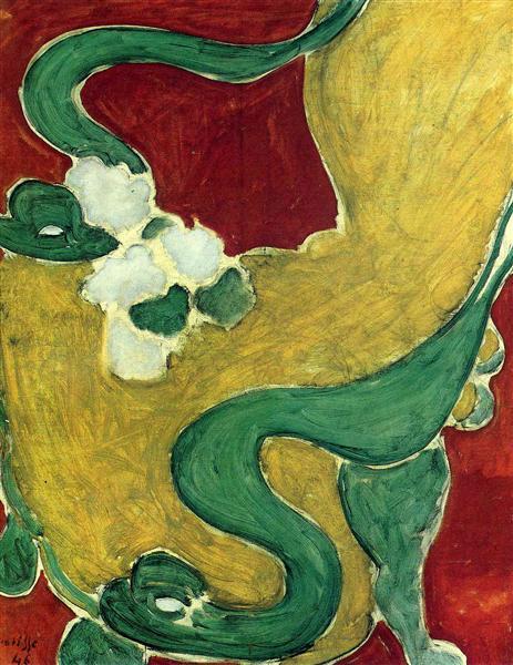 Fauteuil rocaille de Henri Matisse en 1946 ©Wikiart