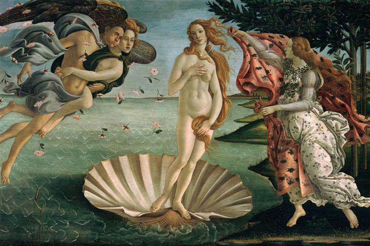 La Naissance de Vénus de Sandro Botticelli en 1485 ©Wikiart