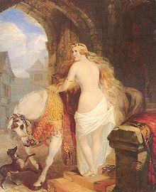 Lady Godiva de Marshall Claxton datant de 1850 ©Wikipedia