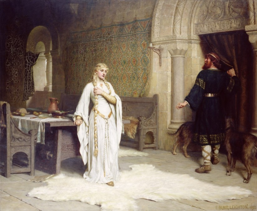 Lady Godiva par Edmund Blair Leighton en 1892 ©UnTableauUneHistoire