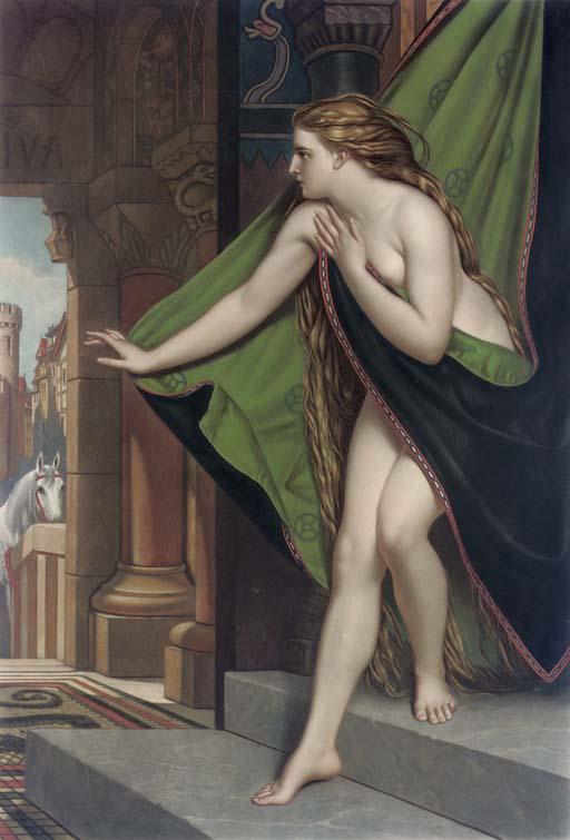 Lady Godiva peint par Joseph Henri François Van Lerius ©UnTableauUneHistoire