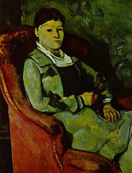 Madame Cézanne au fauteuil jaune de Paul Cézanne est une Peinture à l Huile sur Toile de 81 x 66 cm datant de 1881 ©Wikiart