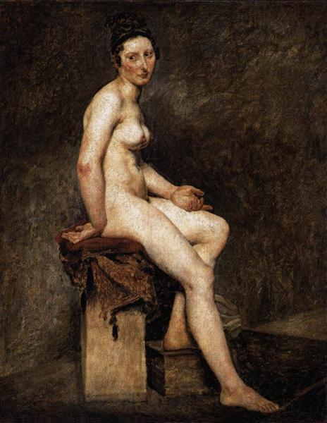 Mademoiselle Rose peint par Eugène Delacroix. C est une Peinture à l'Huile sur Toile de 81 x 65 cm fait en 1820-1824 ©Wiki-art