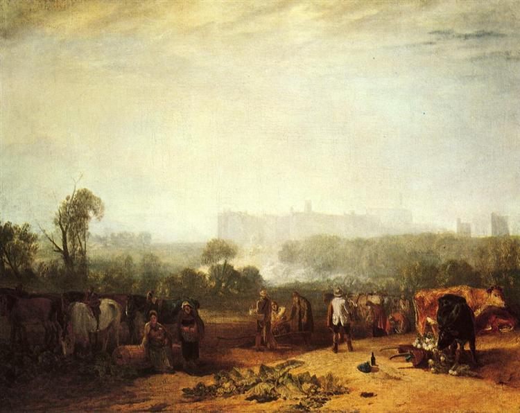 Plougjing up Turnips, near Slough peint par Joseph Mallord William Turner. C est une Peinture à l Huile sur Toile de 102 x 130 cm faite en 1809 ©Wikiart