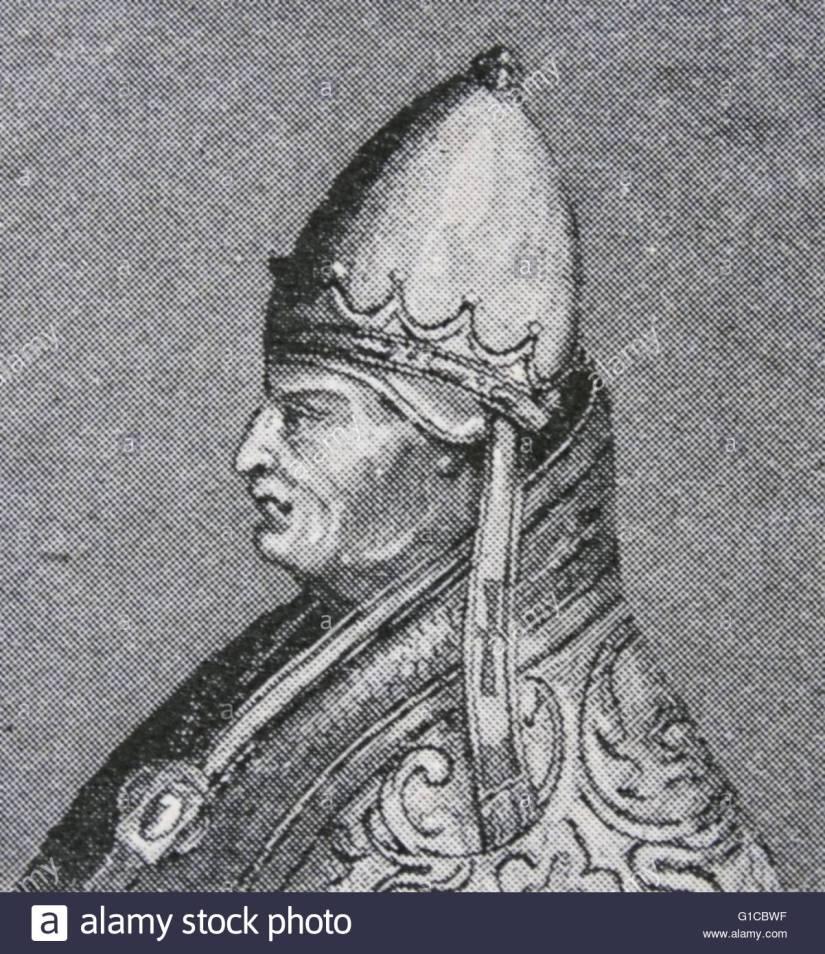 Portrait du pape Grégoire VI au XIIème siècle