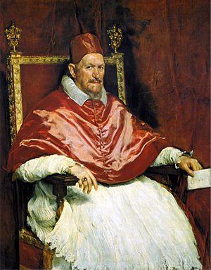 Portrait Innocent X de Diego Velazquez. C est une Huile sur Toile de 141 x 119 cm faite en 1650