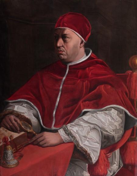 Portrait Pope Léo X par Jacopino del Conte. C est une Huile sur Toile de 109 x 85.5 cm faite au XVIème siècle