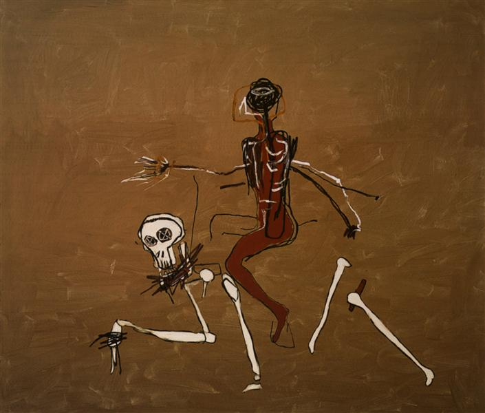 Rouler avec la mort de Jean-Michel Basquiat 1988