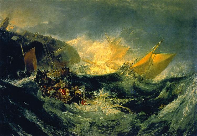 Shipwreck de Joseph Mallord William Turner ©Wikiart