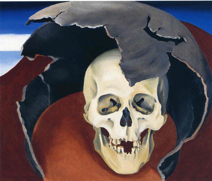 Tête avec pot cassé peint par Georgia O'Keeffe en 1942