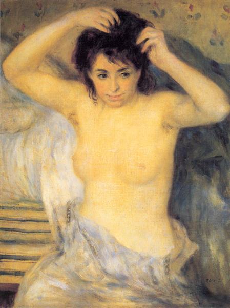 Torso Before the Bath par Auguste Renoir. C est une Peinture à l Huile sur Toile de 63 x 81.5 cm en 1875 ©Wiki-art