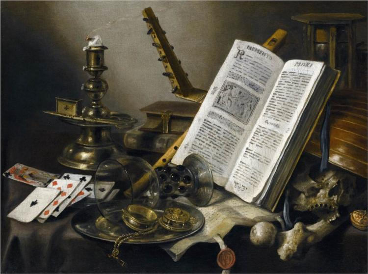 Vanitas still Life peint par Pieter Claesz en 1660