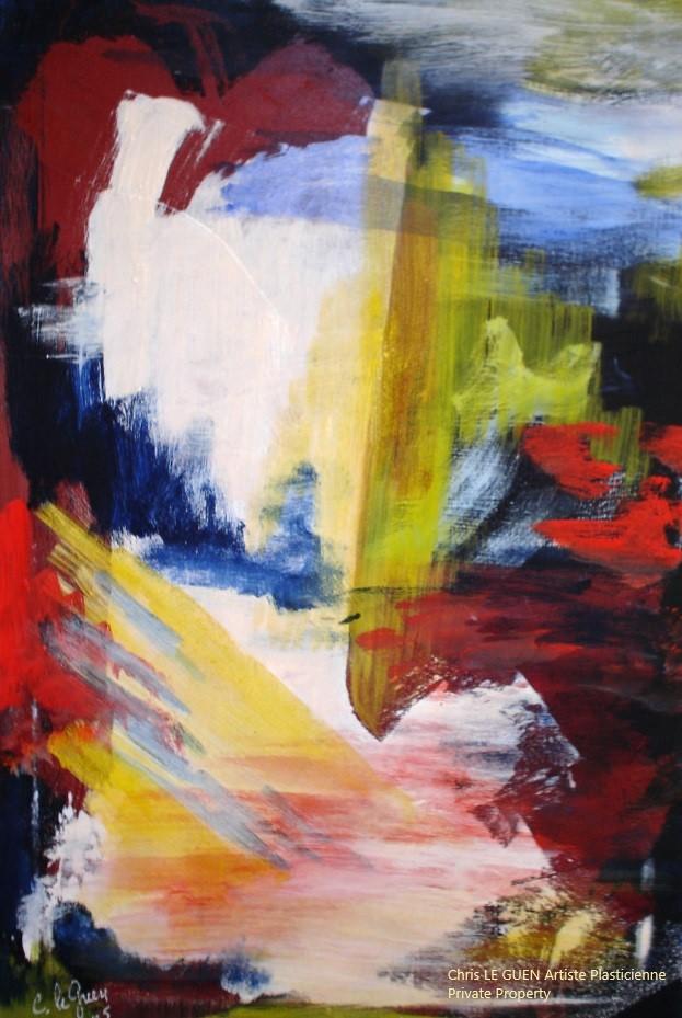 Chris Le Guen Artiste Plasticienne Peintre et Sculptrice peint N°22 c