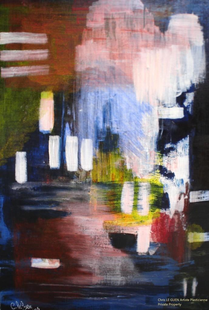 Chris Le Guen Artiste Plasticienne Peintre et Sculptrice peint N°22 d