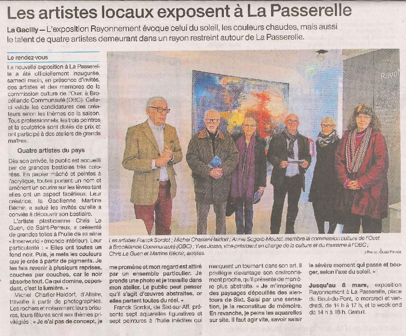 Exposition Rayonnement à La Passerelle avec Chris Le Guen