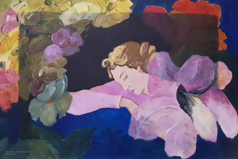 La Belle Endormie est une peinture inspirée du travail du célèbre peintre Maurice Denis.