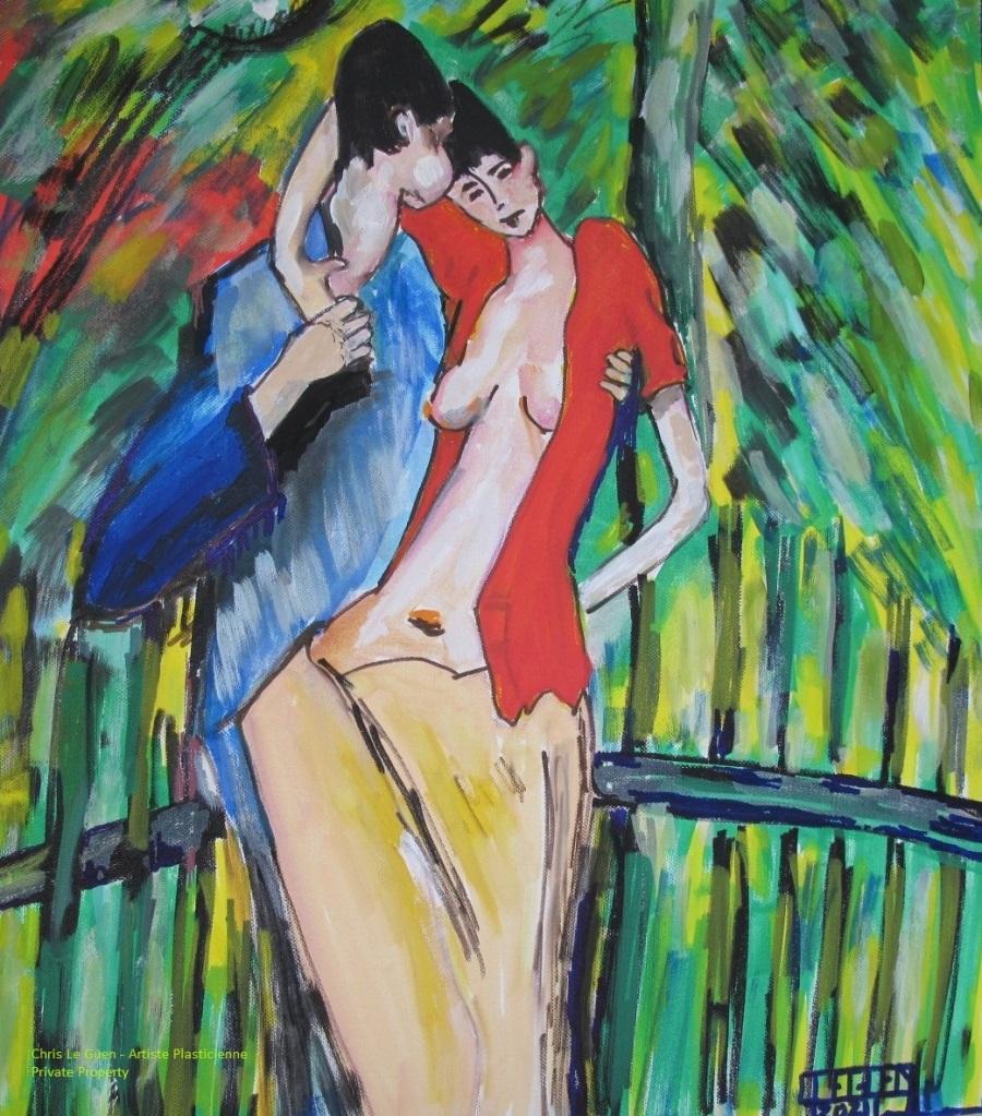 N°2 est une peinture de Chris Le Guen pour La Saint-Valentin